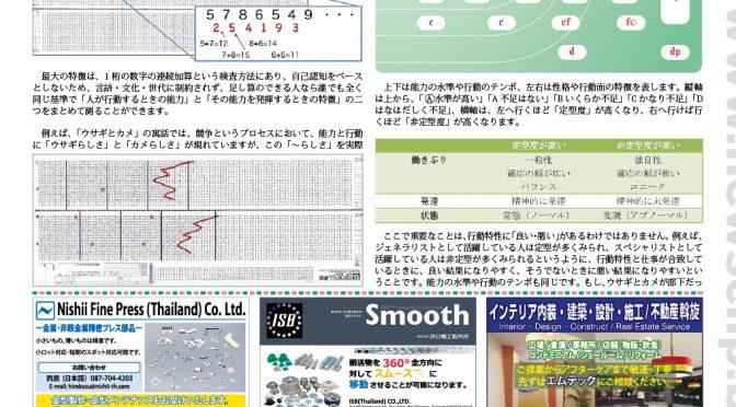 newsclip紙に「内田クレペリン検査事例紹介 ― 臨床小ばなし ―」が掲載されました。